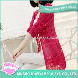 Cardigan personnalisé de femmes de chandail tricoté par mode neuve de laines