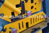 Ironworker hidráulico Unching combinado e estaca, estaca da barra de ângulo