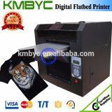 Impresora plana caliente de la camiseta con diseño colorido