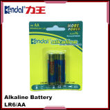 Bateria alcalina seca da pilha 1.5V Lr6 AA