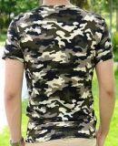 Colorant 100% de T-shirt de Camo de coton ou impression réactive