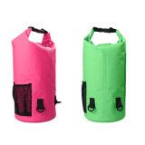 saco seco impermeável do PVC 500d com Zipper e bolso do engranzamento