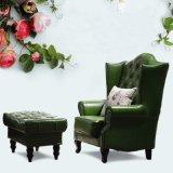 Amerikanischer Land-Art-Freizeit-Wohnzimmer-und Schlafzimmer-lederner Sofa-Stuhl