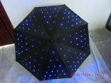 Promoción de luz LED Umbrella Publicidad Umbrella LED LED de la manija del paraguas Light