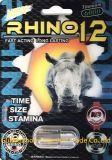6000 rinoceros 12 Pillen van de Versterker van de Premie de Mannelijke Seksuele voor Libido & Uithoudingsvermogen