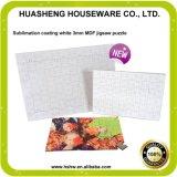 中国の工場卸売A5のサイズ印刷できるMDFの木ブランクジグソーパズル