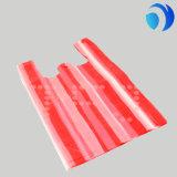 Sacchetto di verdure della frutta dell'HDPE della banda della maglietta di plastica di colore