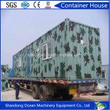 Casa móvil prefabricada del envase de la casa del bajo costo de la estructura de acero ligera