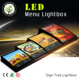 Ristorante materiale acrilico LED Lightbox degli alimenti a rapida preparazione
