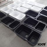 Schwarze feste Oberflächenmarmoreuropäische Küche-Steinwanne (S1611111)
