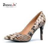 Kleid-Schuhe der Frauen-Absatz-Pumpen-Dame-Snake Pattern Leather