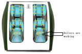 Rouleau-masseur de STATION THERMALE électrique de pied et de mollet avec les têtes personnelles de malaxage et de roulement