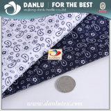 Tissu estampé à haute densité de popeline de coton pour la chemise des hommes