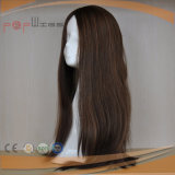 아름다운 실크 최고 디자인 최신 판매 긴 머리 가득 차있는 Hantied 여자 가발