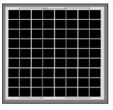 poli comitato solare 15W per indicatore luminoso solare