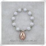 rosario con la traversa, rosario della barretta (IO-ce086) della barretta dei branelli della Rosa della resina di 8mm
