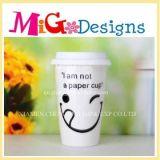 Кружка кофеего нового типа керамическая с крышкой