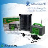 sistema solare portatile di 10W mini PV con 5 lampadine del LED