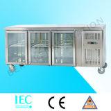 Refrigerador comercial de Undercounter da porta tripla para o restaurante (SNACK3100TN)