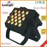 uit het Licht van het 24X10WRGBWA 5in1 LEDs PARI