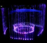 La música de baile redondo y tramos separados de la fuente eléctrica