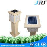 Lumière solaire de pelouse d'horizontal de cube en qualité de modèle de 2016 Chinois avec du ce dans le blanc