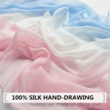 Beste verkaufenc$hand-zeichnung, die reinen Silk Schal/Stola (HWBS45, vermindert)