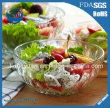 Bol en verre de salade transparente sans plomb s'épaississant