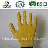 Раковина полиэфира с покрынными нитрилом перчатками работы (SL-N105)