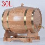 Preiswerter handgemachter Whisky-Wein-Zylinder-hölzerner Kiefer-Zylinder für Verkauf