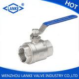 Plein robinet à tournant sphérique d'acier inoxydable d'amorçage du port Dn8-Dn100 2PC