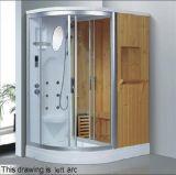小型シャワー(AT-D8851B-1)との1600mmのセクターの蒸気によって結合されるサウナ