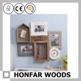 Frames de retrato ornamentado azuis para a decoração Home