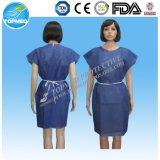 Wegwerf-pp./SMS/mikroporöses nicht gesponnenes geduldiges Kleid