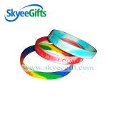 Wristbands unisex variopinti del silicone di nuovo disegno