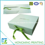 Rectángulo de regalo de lujo de la cartulina del papel del diseño de la impresión de Hongming
