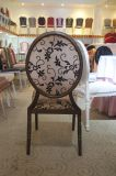 Tela antigua parte posterior redonda que cena la silla de la boda (CY-1012)