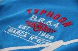 무리 인쇄 남자의 V 목의 폴로 셔츠가 질 면에 의하여 Lycra 수를 놓았다