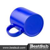 tasses changeantes de la couleur 11oz (bleues) SANS cadre