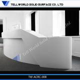 Les couleurs de RVB 7 marbrent les compteurs modernes blancs de modèle de mode de compteur de réception de bureau de réception