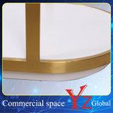 Шкаф промотирования шкафа выставки шкафа вешалки стойки индикации нержавеющей стали стеллажа для выставки товаров полки индикации (YZ161703)