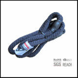 Fils organiques de crabot de glissade de corde de coton avec l'étiquette tissée