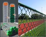 Ограждать ячеистой сети звена цепи PVC Coated/ячеистая сеть диаманта