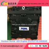 P6 schermi esterno dell'affitto LED visualizzazione di LED esterna dell'affitto di 576mm x di 576 P6 HD