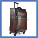 Annehmbarer PVC/PU lederner Gepäck-Koffer, kundenspezifischer Soem-Arbeitsweg-Laufkatze-Kasten für Geschäftsreise
