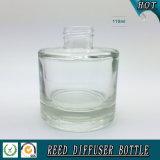 Bouteille en verre de diffuseur de roseau de cylindre de Wholsale 100ml avec le chapeau d'aluminium d'or