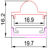 4203 LED-Aluminiumstrangpresßling für flexiblen Streifen des LED-Streifen-LED