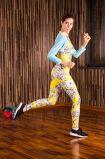 Sportswear тренировки гимнастики печати женщины цены по прейскуранту завода-изготовителя длинней подгонянный втулкой