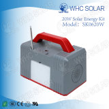 Kit de energía solar recargable de Whc 6V20W LED para acampar