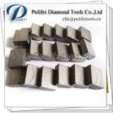 Il calcestruzzo di pietra di marmo del granito il segmento del diamante della parte di taglio della lama per sega